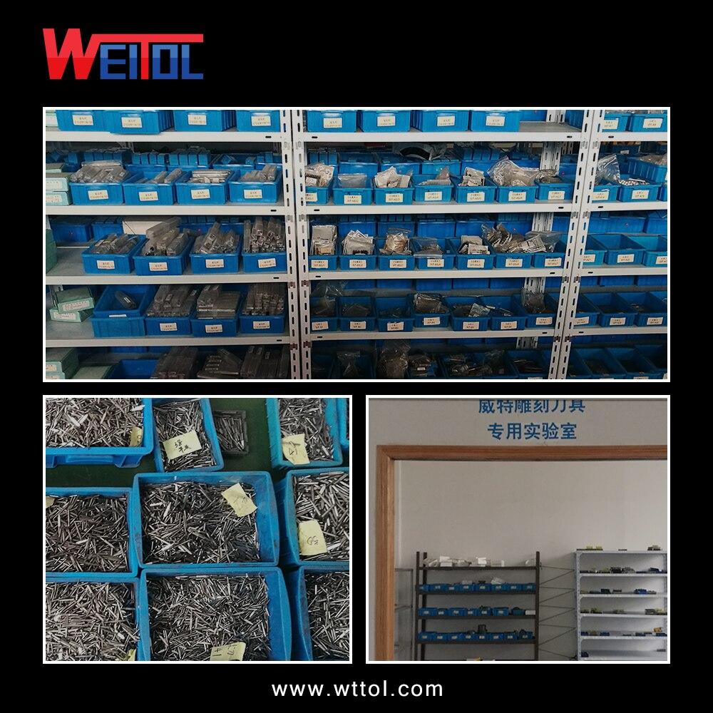 Купить с кэшбэком Weitol free shipping N 10pcs 38mm OVL 4mm flat bottom engraving bits solid carbide V shape carving tools CNC router bits