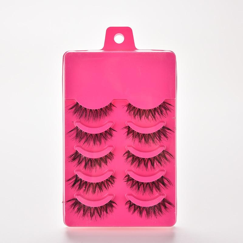 5Pairs Crisscross Eye Lash Extension Tools False Eyelashes Set Strip Lashes Beauty Essentials