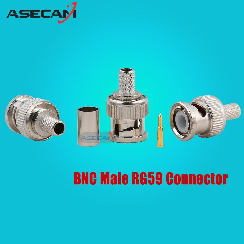 ASECAM 20pcslot Cable BNC male 3-piece connector plugs
