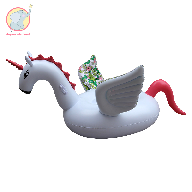 200cm Inflatable pattern wing unicorn Pegasus floating row beach fun supplies pool float party floaties water toys for adults