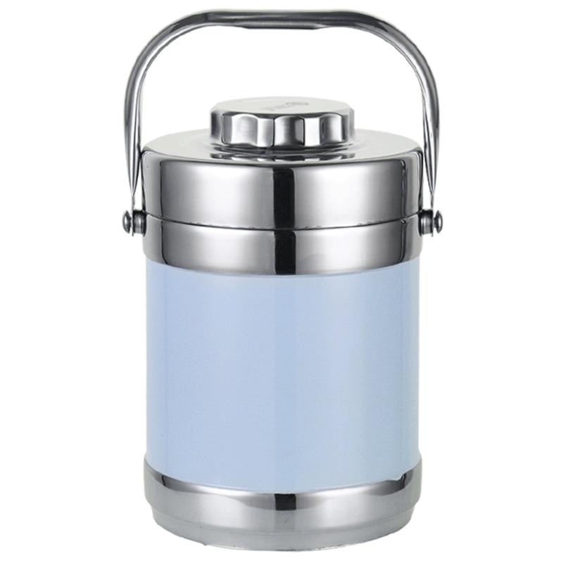2018 En Acier Inoxydable Boîte À Lunch Thermos Food Container Boîte À Lunch Chauffée Portable 2L Thermos Flask Container pour Alimentaire Bento Boîte