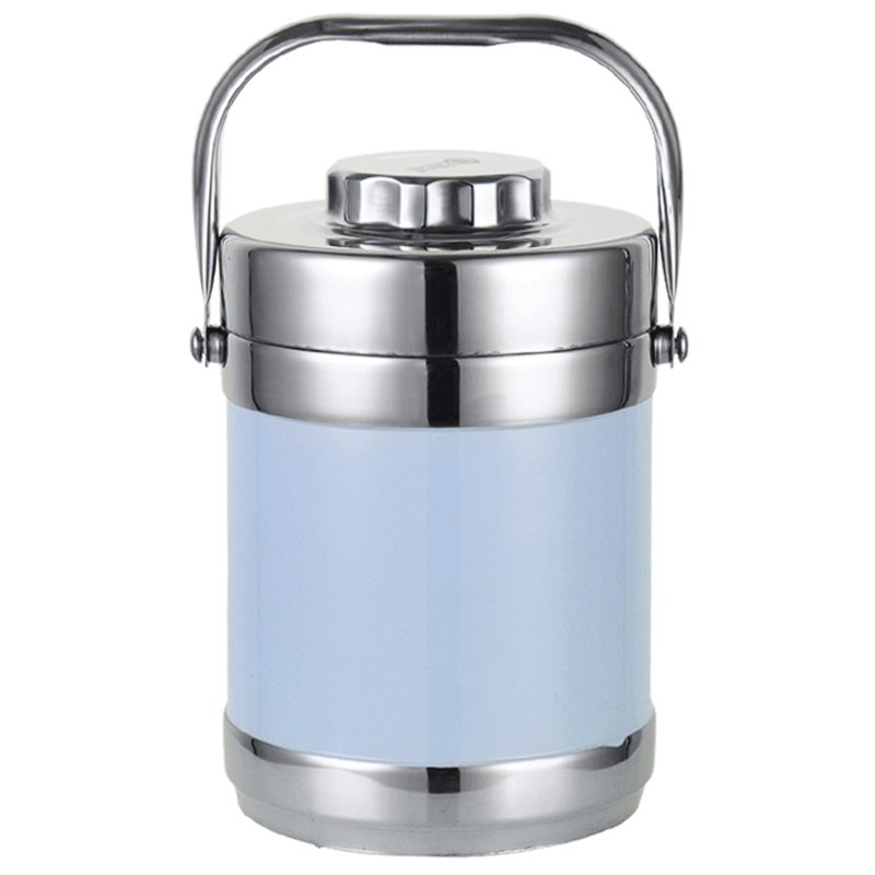 2018 Stainless Steel Lunch Box Thermos Food Container Lunch Box Heated Portable 2L Thermos Flask Container for Food Bento Box