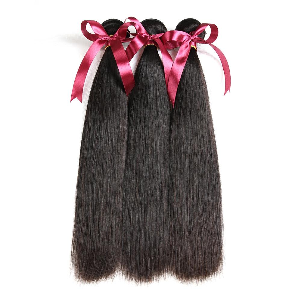 Karizma brasilianska raka hårbuntar 3 st. Lot Natural Black Color - Mänskligt hår (svart) - Foto 3