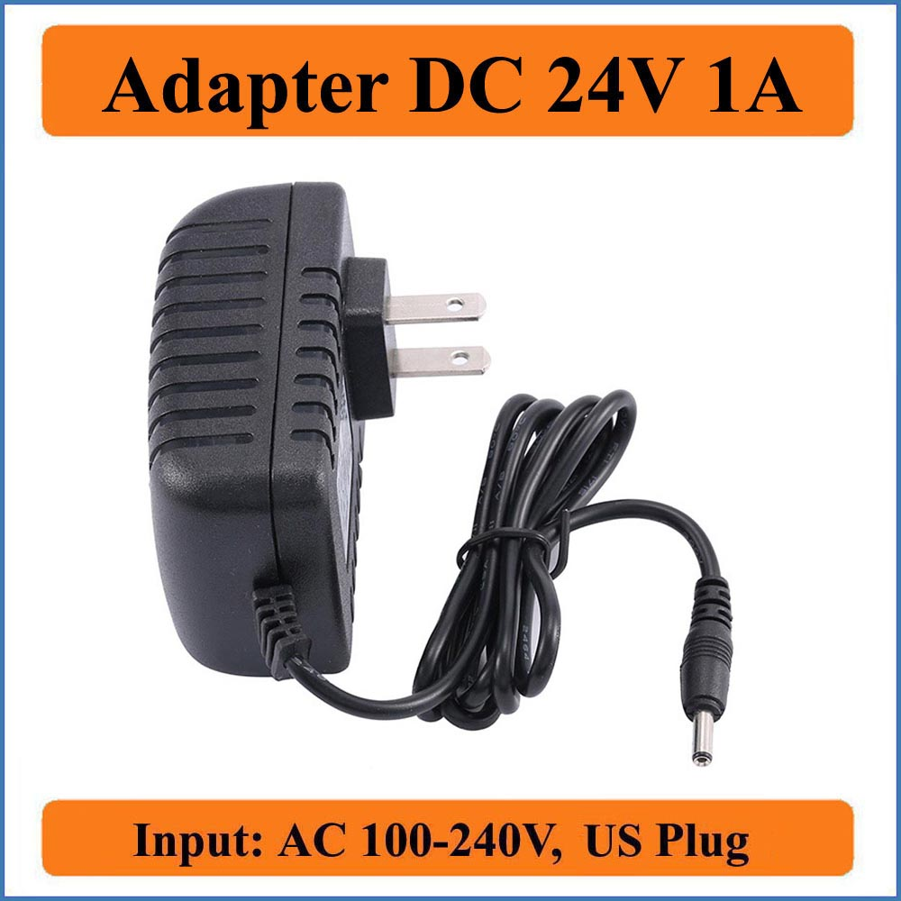 <font><b>24V</b></font> 1A US Plug <font><b>AC</b></font> DC <font><b>Adapter</b></font> <font><b>AC</b></font> 100-240V Converter <font><b>Adapter</b></font> to DC <font><b>24V</b></font> charger Power Supply 1000mA <font><b>Adapter</b></font> 5.5mm x 2.1-2.5mm image