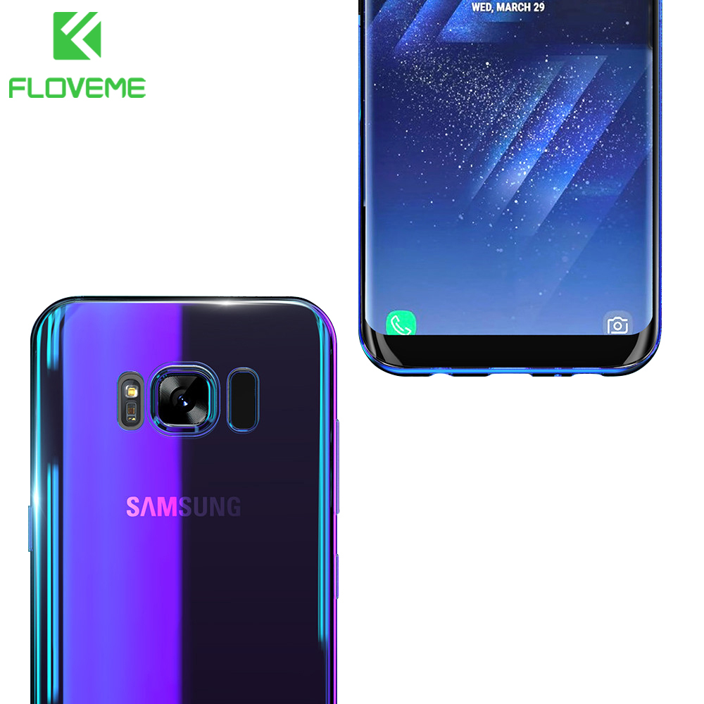floveme hard case for samsung galaxy s8 s7 edge gradient back cover phone cases for galaxy s8 s9. Black Bedroom Furniture Sets. Home Design Ideas