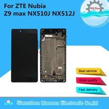 M & Sen Für ZTE Nubia Z9 max NX510J NX512J LCD display + touch digitizer mit rahmen schwarz freies verschiffen
