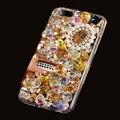 Luxo 3d bling cristal diamante phone case para sony xperia z3 Z3 D6603 D6653 Girly Faísca Jóias Coque Raposa Tampa Do Perfume Quente