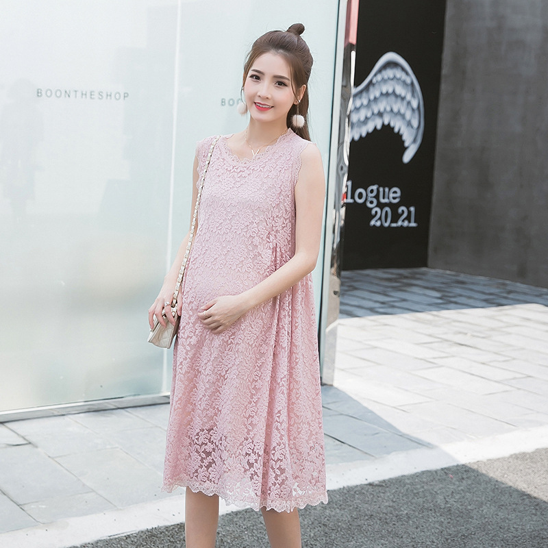 Buy summer style maternity pink lace tank for Cute maternity dress for wedding