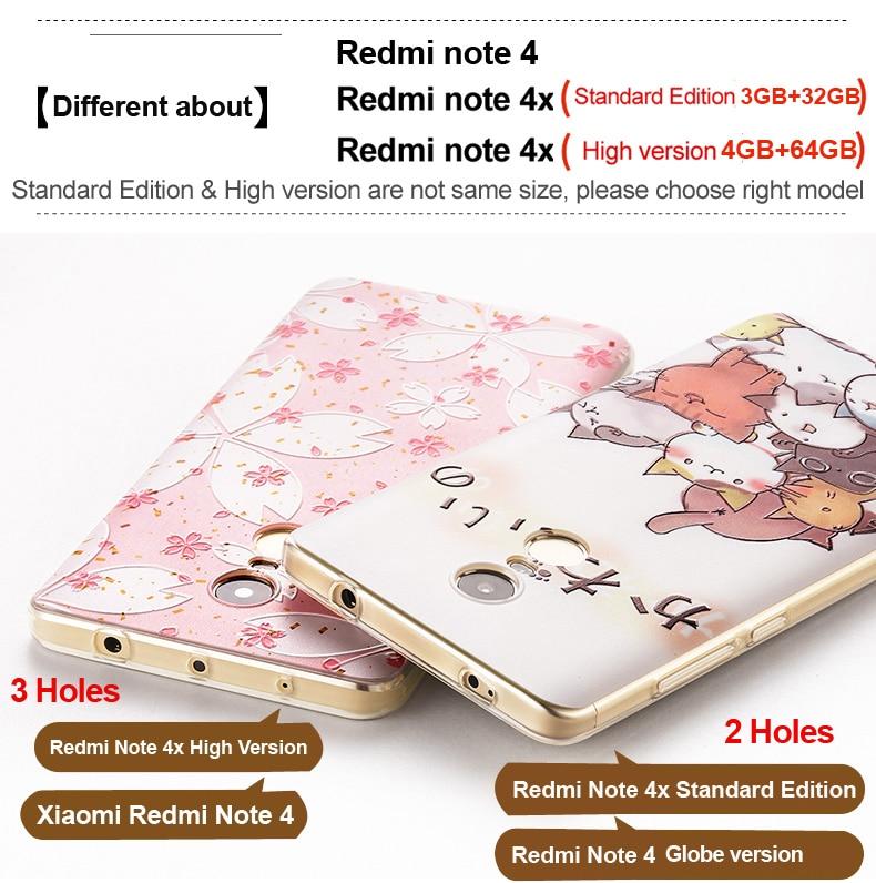 För Xiaomi Redmi Note 4 Fodral 3D Cartoon TPU Bakomslag Vpower För - Reservdelar och tillbehör för mobiltelefoner - Foto 5
