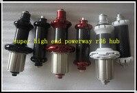 Популярные high end Powerway R36 углерода дорожный мотоцикл концентраторы 20 24 H Вес 297 г РЗЭ концентраторы прокладку и Кампа (8/9/9/11) красный цвет черный