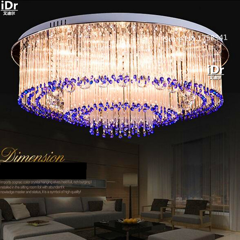 Einfache Moderne LED Lampen Schlafzimmer Wohnzimmer Lampe Kristall Grosshandel Runde Deckenleuchten Rmy 0393