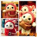 Candice guo, плюшевая игрушка, мягкая кукла, милый Косынка, повязка на голову, choo, красный плащ, мультяшная модель, подарок на день рождения, 1 шт.