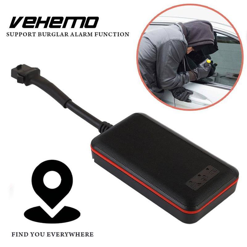 Vehemo 100V Black Wide Voltage GPS Locator GPS Tracker Fence Alarm Positioning Precise Car GPS