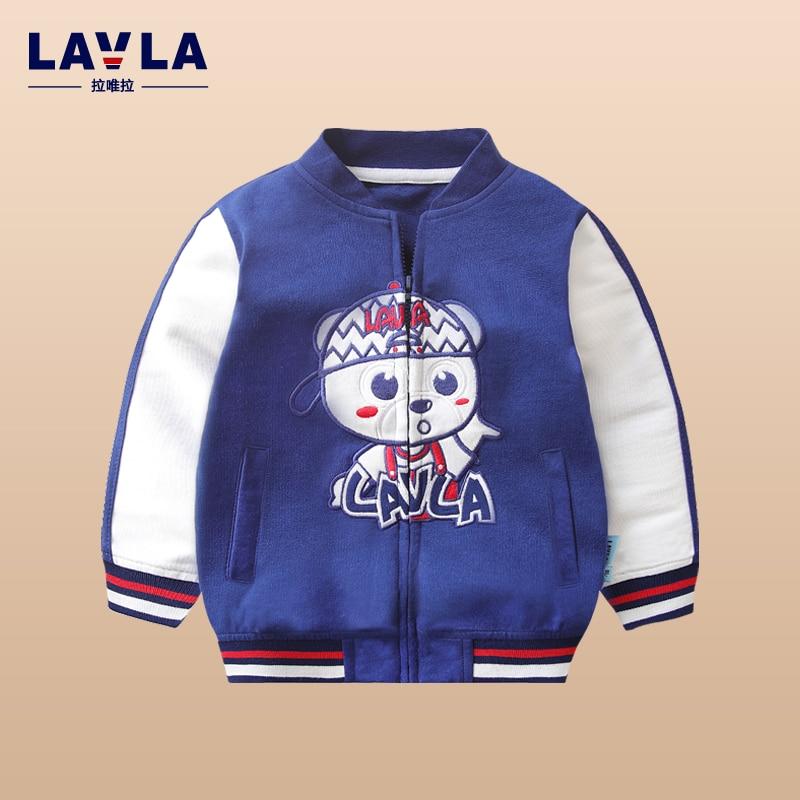 ФОТО Lavla Spring Autumn 100% Cotton Kids T Shirt Cartoon Long Sleeve Baby Boys Girls T-Shirt Children Pullovers Tee Boys Clothes
