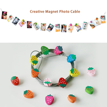 ZHUTOUSAN Party Background 3M Silver Metal Photo Cable With 16PCs Magnetic  Button Photo Rope Birthday Wedding