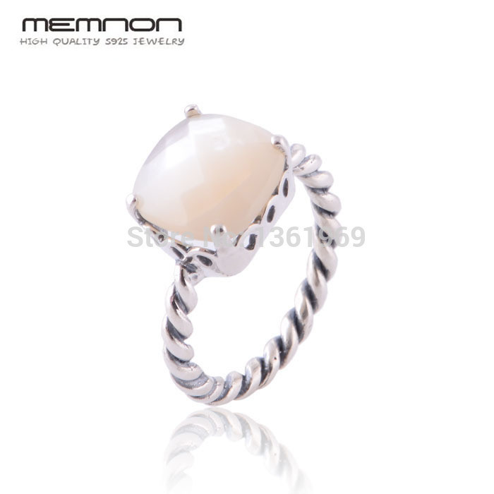 Memnon Fine jewelry European Style Mother of Pearl Rings for women Made of 925 Sterling Silver anillos fine jewelry RIP099Memnon Fine jewelry European Style Mother of Pearl Rings for women Made of 925 Sterling Silver anillos fine jewelry RIP099