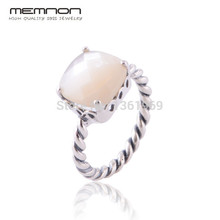 hot deal buy memnon fine jewelry european style mother of pearl rings for women made of 925 sterling silver anillos fine jewelry rip099