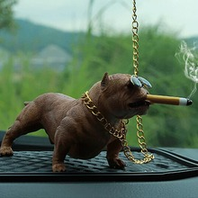 Bully Pitbull Simulated Car Dog Dolls Ornaments Pendant Auto
