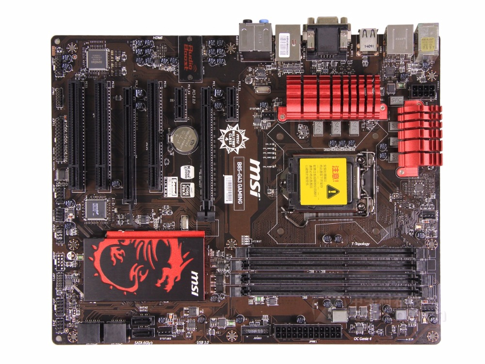 купить Free shipping original motherboard MSI B85-G43 GAMING DDR3 LGA 1150 32GB for 22NM CPU USB3.0 DVI VGA HDMI Desktop motherborad онлайн