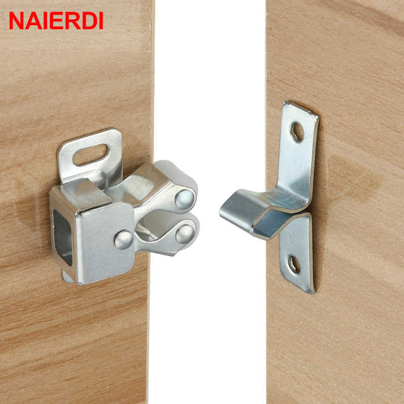 NAIERDI 2PCS Door Stop Closer Stoppers Damper Buffer Magnet Cabinet Catches For Wardrobe Hardware Furniture Fittings