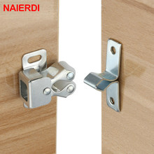 NAIERDI 2PCS Door Stop Closer Stoppers Damper Buffer Magnet Cabinet Catches With Screws For Wardrobe Hardware Furniture Fittings(China)