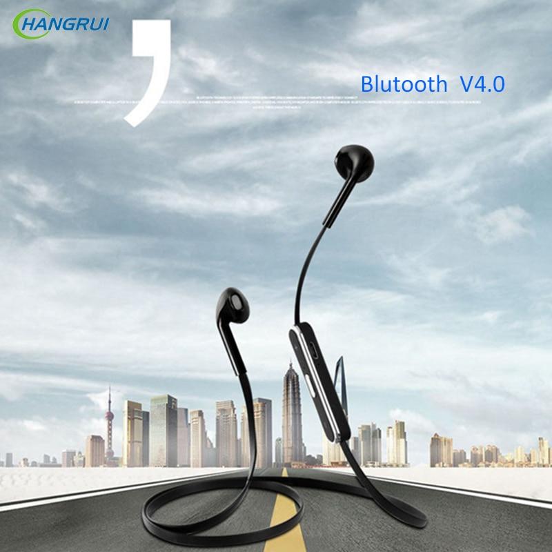 HANGRUI Noodles Bluetooth Earphone With Mic Wireless Headphones Sport Running Bass Bluetooth Headsets For iPhone Xiaomi running bluetooth earphone hands free hbs 902 earphone sport wireless with mic for samsung iphone