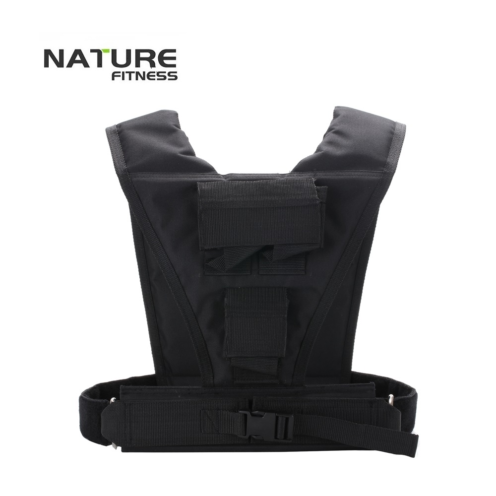 Adjustable Black Color Weight Vest Maximum Can Bear 10KG Exercise Training Vests Training Strength Not Include Weight Plates