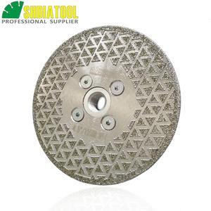 Image 4 - SHDIATOOL 1 pc Elettrolitico del diamante taglio disco di macinazione Entrambi I Lati rivestito di diamanti lama di granito di marmo di Taglio Ruota