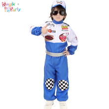 Halloween cosplay costume blue child masquerade costumes-racing driver