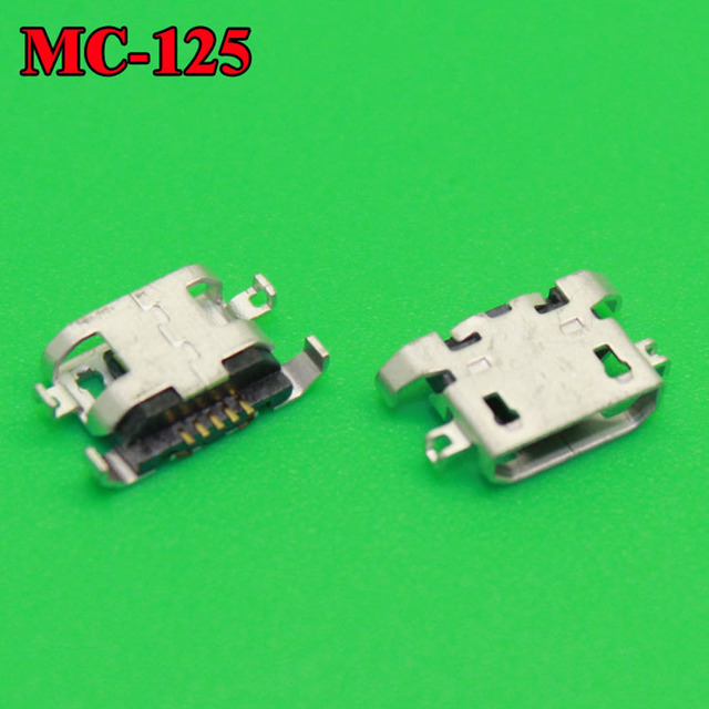 50PCS 100% New micro USB connector charging port Replacement Parts for Lenovo A670 S650 S720 S820 S658T A830 A850