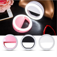 Phone Selfie Ring Flash Led Fill Light Lamp Camera Photography Video Spotlight for iphone X 8 7 6 Samsung S8 Plus Xiaomi Huawei