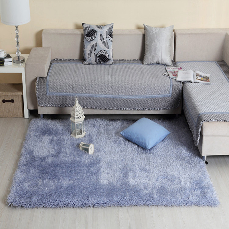 US $120.45 45% OFF|Sweet Home Stores Cozy Shag Collection Solid Shag Rug  Contemporary Living Bedroom Soft Area Rug Grey Blue Carpet Floor Mat-in Mat  ...