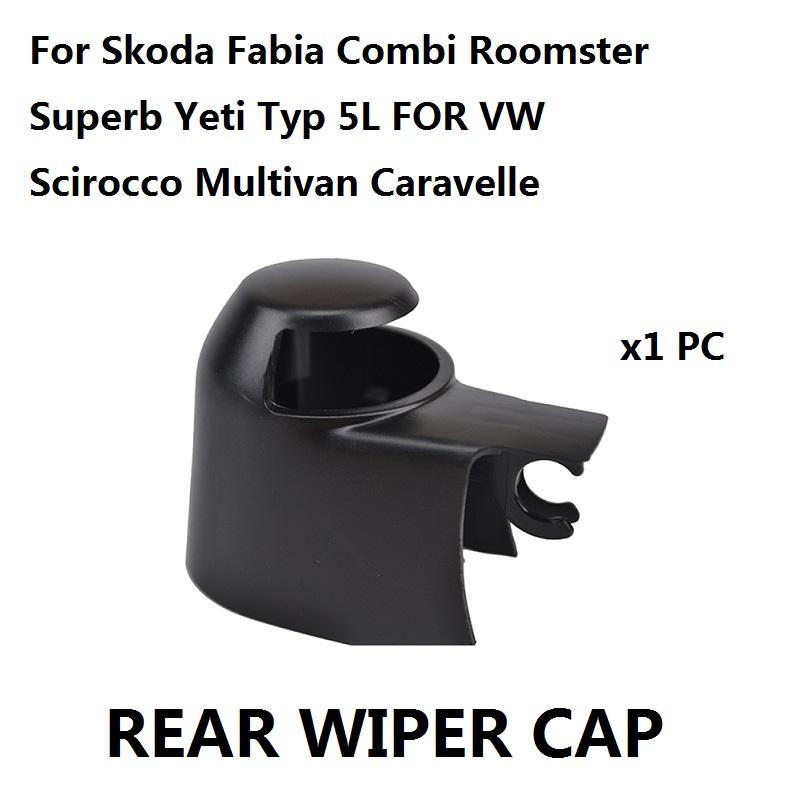 Car Styling Rear Wiper Washer Arm Cover Cap For Skoda Fabia Combi Roomster Superb Yeti Typ 5L For VW Scirocco Multivan Caravelle