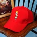 2016 Support Custom Baseball Cap 6 Panel Cap Korean Summer Cartoon Embroidered Curved Baseball Cap Hats for Women Men