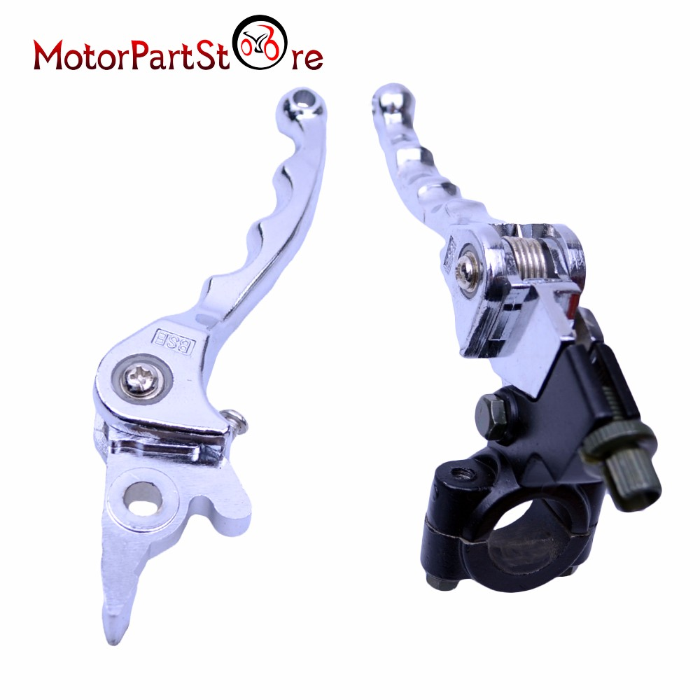 Chrome Folding Clutch Brake Levers Set for 140cc 125cc 110cc PIT DIRT BIKE Motorcycle ATV Accessories $ motorcycle hydraulic clutch folding brake clutch levers handle grips for pit dirt xr crf bike ssr trihumphstar