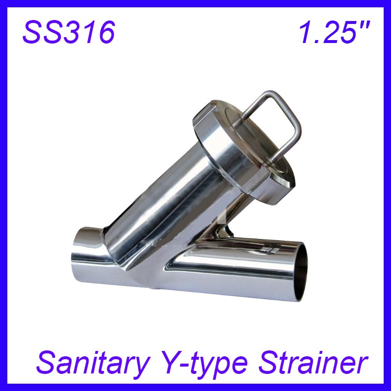 1.25'' Sanitary Stainless Steel SS316 Y type Filter Strainer f Beer/ dairy/ pharmaceutical/beverag /chemical industry