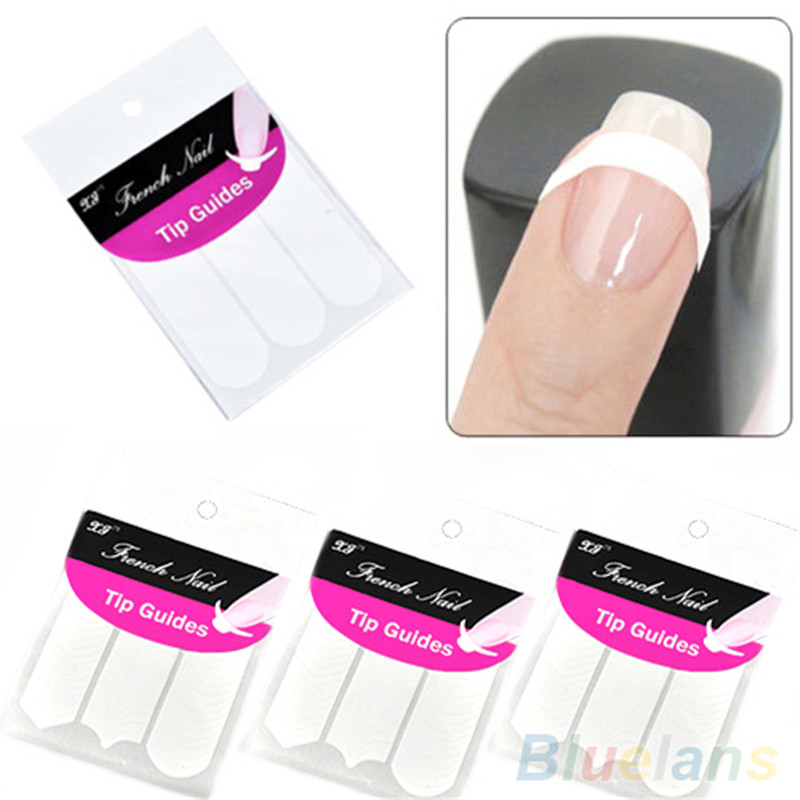 48 guides French Manicure Smile Tip Guides Pedicure DIY Nail