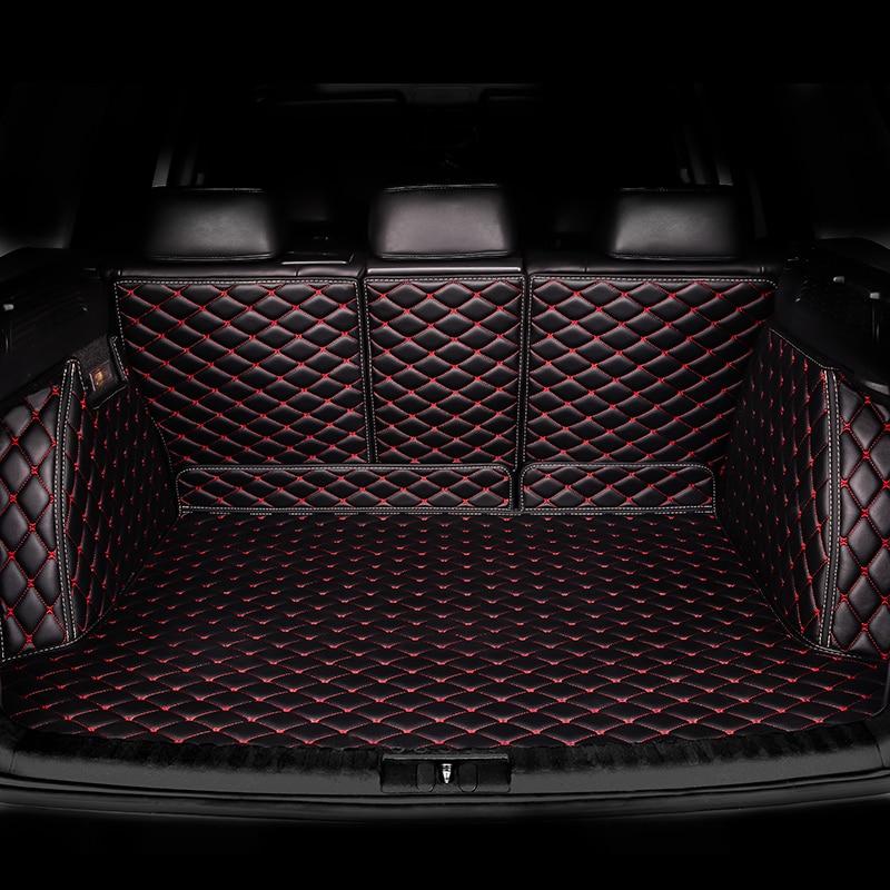 HeXinYan Custom Car Trunk Mats for Audi all models A3 Q5 Q3 A7 SQ5 A8 Q7 A5 car styling auto accessories custom cargo liner