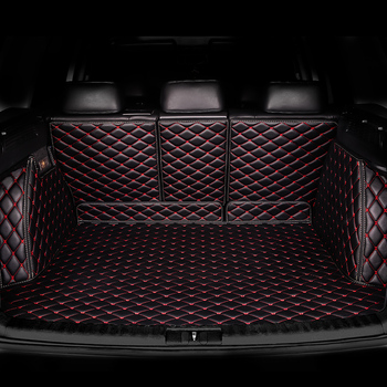 HeXinYan niestandardowe maty bagażnik samochodowy dla Audi wszystkie modele A3 Q5 Q3 A7 SQ5 A8 Q7 A5 Car styling akcesoria samochodowe niestandardowe mata do wyłożenia podłogi bagażnika tanie i dobre opinie Sztuczna skóra z włókien syntetycznych black coffee red brown purple beige