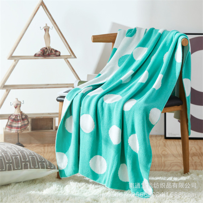 printed Knitted baby Blanket Kids Adults infant Throw Knit Blankets Bed Cover Plaids Sofa Towel/Blanket size 110*130cm все цены