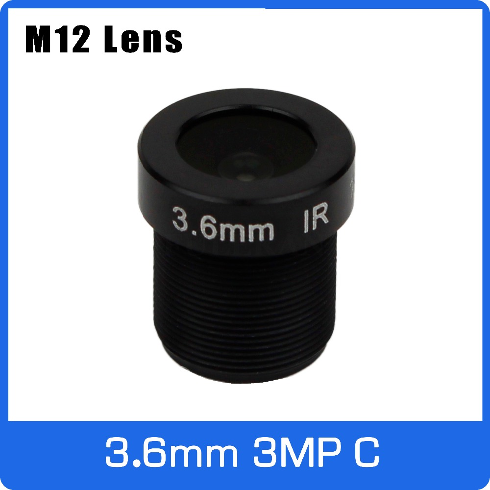 3Megapixel M12 Fixed 1/2.7 Inch 3.6mm 120 Wide Angle CCTV Lens For HD 1080P CCTV Camera Free Shipping