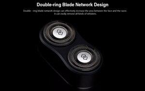 Image 3 - Oryginalny Youpin Mijia Zhibai Home elektryczne maszynki do golenia dla mężczyzn wodoodporny Wet Dry golenie dwupierścieniowy ostrze maszynka do golenia USB nadająca się do wielokrotnego ładowania