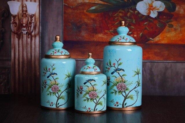 Aristocratic Flowers Birds Home Decoration Decal Gold Rim