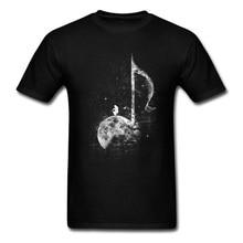 Artist Men T-shirt Music Lover Tshirt Miles On The Moon High Quality Design T Shirt 100% Cotton Short Sleeve Tops & Tees Black