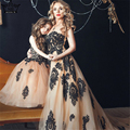 Luxo Long Train Bordado Do Vestido de Casamento vestido de Noiva 2017 Personalizado tamanho Robe De Mariee Mariage Imagem Real Hot Sale 2016 noivas