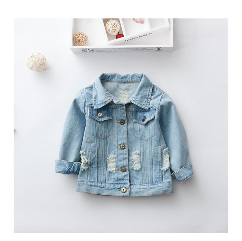 Girls Denim Jackets Kids Long-Sleeved Denim Jackets for Girl Baby Embroidered Denim Coat Clothing Spring Summer Fashion