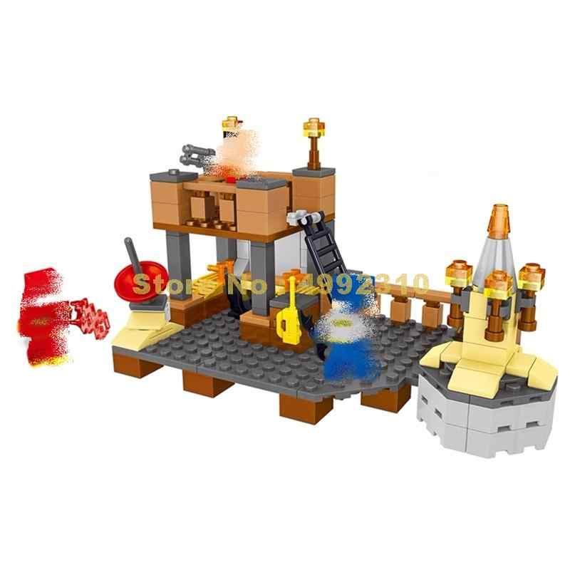 33056 218 Uds mi mundo kleist defensa base bloque de construcción Lele ladrillos de juguete