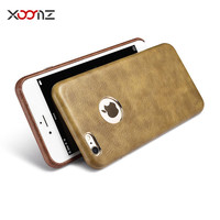 XOOMZ Original for Apple iPhone 6 6s Phone Cases, Vintage PU Leather Gold Plated Slim Back Case Cover Fundas for iPhone 6s