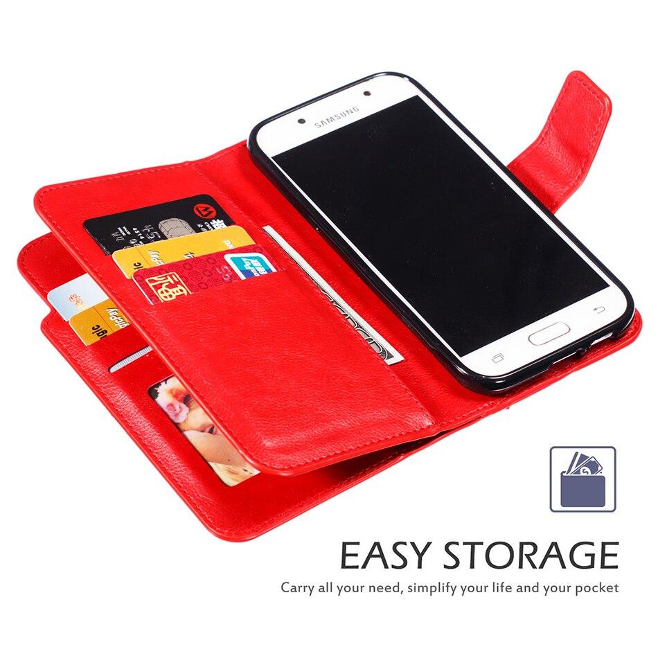 Galleria fotografica Vintage Case For Coque Samsung Galaxy A3 2017 2016 2015 Flip Phone Cover Leather 9 Card Wallet SM-A320F SM-A300F SM-A310 B300