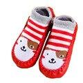 Crianças do Presente do bebê Meias Chão Interior sapatos de bebê meias Crianças Dos Desenhos Animados Infantis Meias Sola De Couro Não-Slip Toalha Grossa SocksSWER003